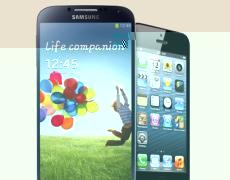 Samsung Galaxy S4 und Apple